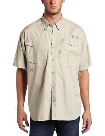 Columbia Men's Bonehead Short Sleeve Shirt, Fossil, X-Small