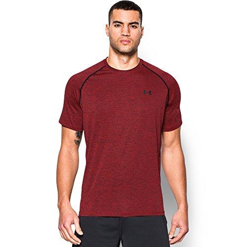 Under Armour Mens Tech Short-Sleeve Tee (Red/Black, M)