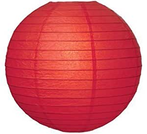 "Party Paper Lantern-Round 12""-Luau Supplies- Oriental/Chinese Lamps - Red"