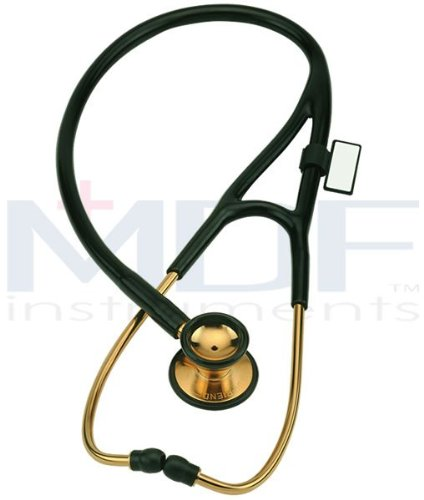 Cheap MDF Instruments – Classic Cardiology Stethoscope 22K Gold – – Noir (MDF797KNOIR)