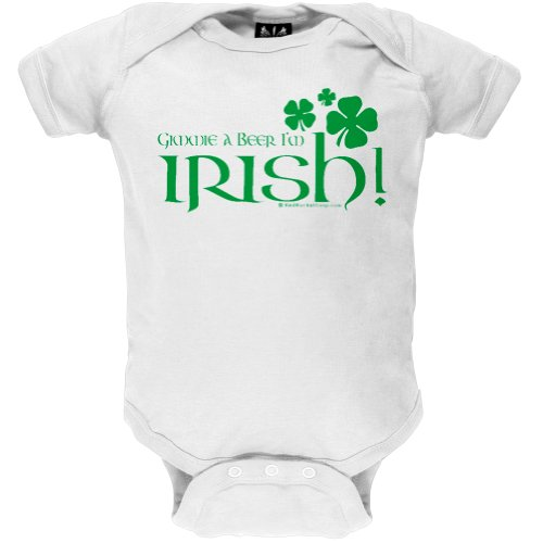 St. Patrick'S Day - Gimmie A Beer I'M Irish Infant Bodysuit - 12-18 Months White front-1050013