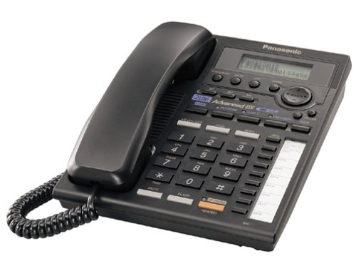 Panasonic KX-TS3282B 2-Line Expandable Corded Phone with Data Port, Black