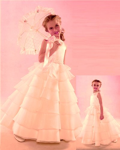 NWT Brand New Flower Girl Ivory Wedding Layers Dress