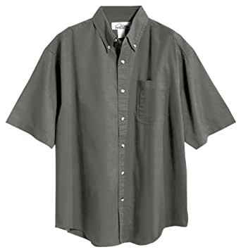 Tri Mountain Men 39 S Big And Tall Twill Dress Shirt Moss