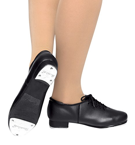 Adult Lace Up Tap Shoes,T9500BLK05.0M,Black,05.0M