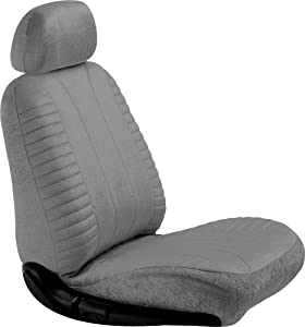 Elegant 21112 Gray Velour Style Low Back Bucket Seat Cover