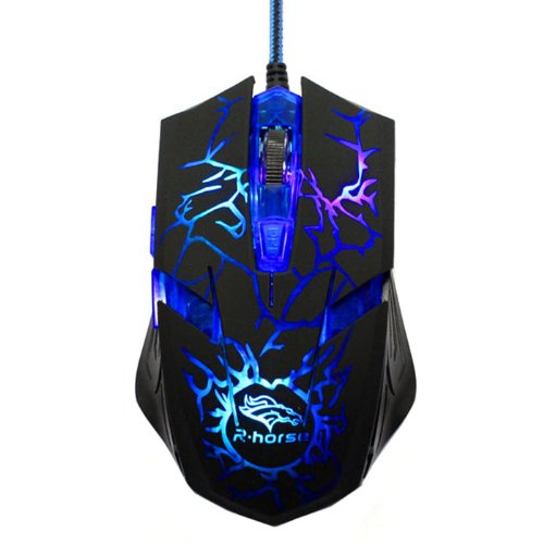 2014 Susenstore Adjustable 3200 Dpi 6D Led Optical Wired Gaming Mouse For Laptop Pc Mac