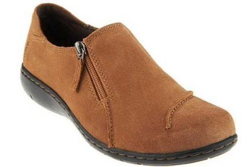 Clarks Clark Maggilyn Women's Casual Slip On Tan Suede 9.5-Wide