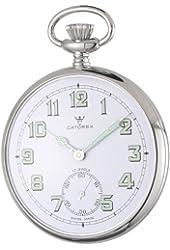 Catorex Men's 170.1.1810.121 La Pautele Palladium Brass White Dial Pocket Watch