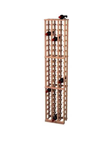 Wine Cellar Innovations Traditional Premium Redwood 3 Column Wine Rack, Light, Stained front-560722