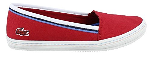 Lacoste Women's Orane 116 1 Flat, Dark Red, 8.5 M US