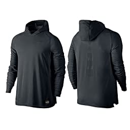 Nike Mens Elite Shooting Basketball Hoodie Black/Anthracite 683006-010 Size Large