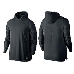 Nike Mens Elite Shooting Basketball Hoodie Black/Anthracite 683006-010 Size X-Large