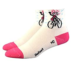 DeFeet Women's AirEator Herculisa Bikes Cycling/Running Socks - AIRHBI