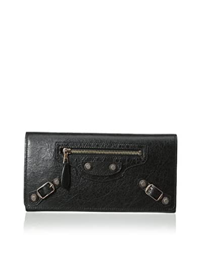 BALENCIAGA Women's Arena Giant Money Wallet, Black As You See
