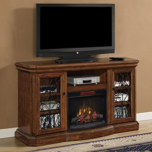 Classicflame Beauregard Infrared Electric Fireplace Entertainment Center In Antique Caramel - 25Mm5045-C326