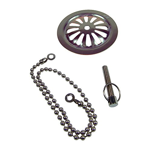 Danco 88922 Bath Overflow Plate with Chain (Tub Screws compare prices)