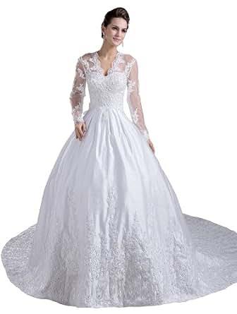 Herafa Wedding Dress Elegant NOw35507 Amazon Fashion