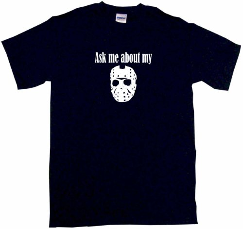 Ask Me About My Jason Hockey Mask Logo Big Boy's Kids Tee Shirt
