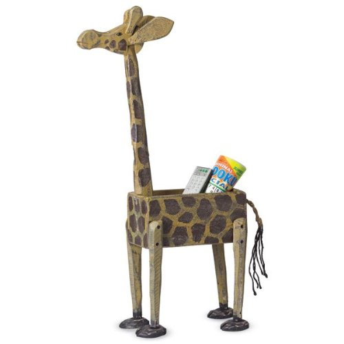 Indoor Outdoor Standing Wooden Giraffe Box id card 125khz rfid reader