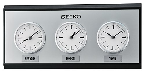 Seiko QXA623KLH Wall Japanese Quartz Wall Clock (World Clock Watch compare prices)