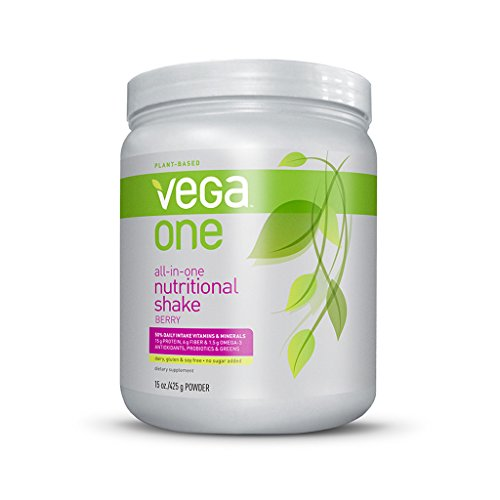 Vega One All-In-One Nutritional Shake, Berry, Small Tub, 15Oz front-352136