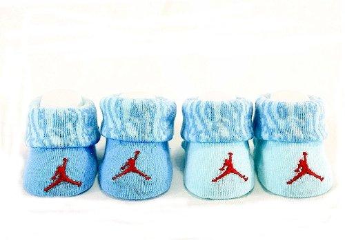 Jordan 0-6 Months Elephant Cuff 2 Pack Booties (0-6 Months, Blue)