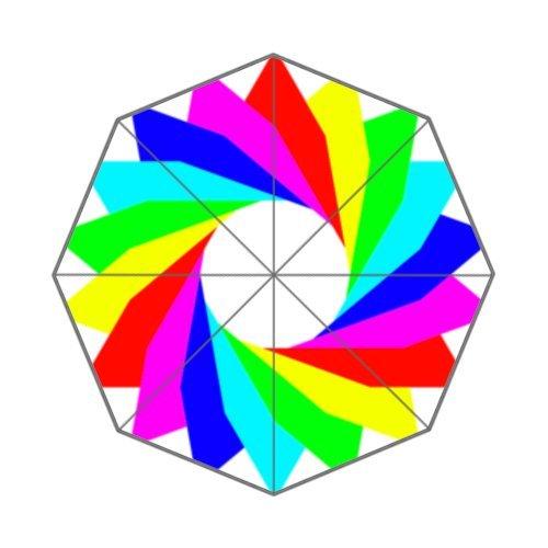 Custom Auto Foldable Umbrella Rainbow Windmill Galaxy Colorful Colorful Green Purple
