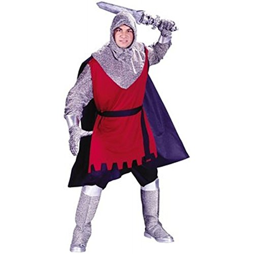 Renaissance Medieval Complete Adult Costume in Standard Size w/Knight Sword
