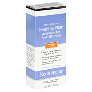 Neutrogena Healthy Skin Anti-Wrinkle Anti-Blemish Treatment, Clear Skin Cream, 1 Ounce