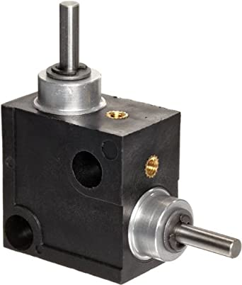 Huco L-Box Miniature Right Angle Gearbox, Acetal Case, Inch