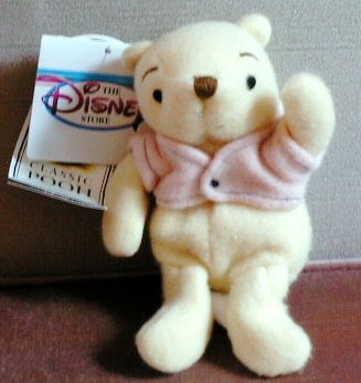 "Disney's Classic Plush Pooh with Sweater 7"" - 1"