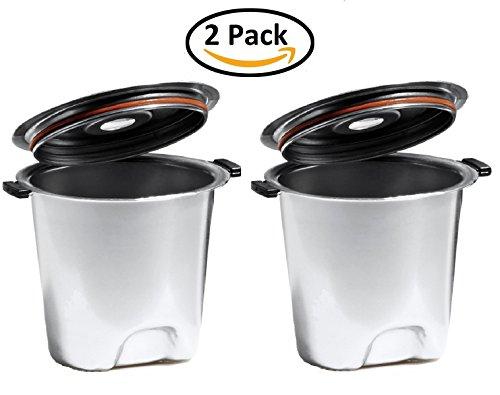 Fill N Save ELITE SERIES 2 pack Stainless Steel Reusable K Cup. Built to Outlast Your Keurig Machine! For Original Keurig 1.0 and New Keurig 2.0, K200, K300, K400, K500 Series of Machines (Keurig Plastic K Cup compare prices)