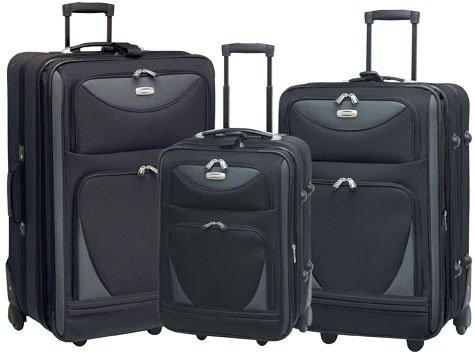 Travelers Club Skyview II 3-Piece Luggage Set Luggage Sets