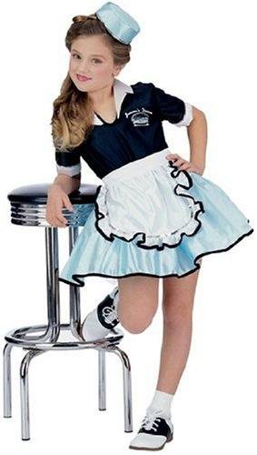 50's Favorites Costume Child's Car Hop Girl