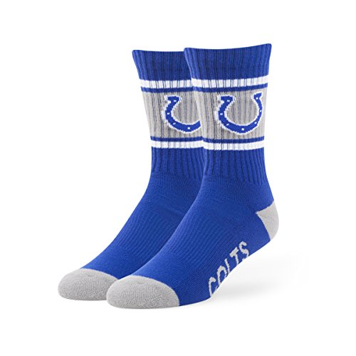 NFL Indianapolis Colts Men's '47 Duster Casual Dress Crew Socks, Royal, Large, 1-Pack (Nfl Football Hoodies compare prices)