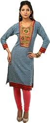 Belle Embroidered Women's Straight Kurta