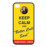 Breaking Bad Iphone 4 4S Silicon Case, Keep Calm and Better Call Saul iPhone 4/4s Cover