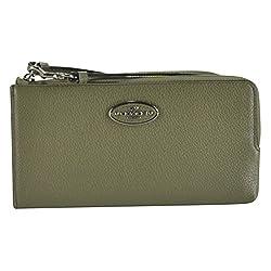 Coach Refined Grain Leather L-Zip Wallet Wristlet 53413 Surplus