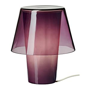 Table lamp, purple, frosted glass
