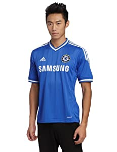 adidas Men's Chelsea FC Home Jersey - CFC Reflex Blue/White, Large