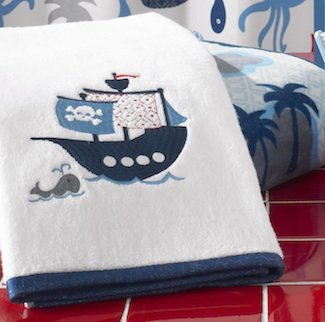 Bambini Pirate Bath Hand Towel