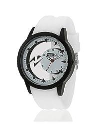 Yepme Men's Transparent Analog Watch - Black/White