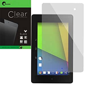 i-Blason The New Nexus 7 2 FHD (2nd Generation) by Google [ Ultra-Thin 0.24 mm Tempered Glass ] Premium Minimal Bubble 8 H Scratch Free Screen Protector (Glass-uT)