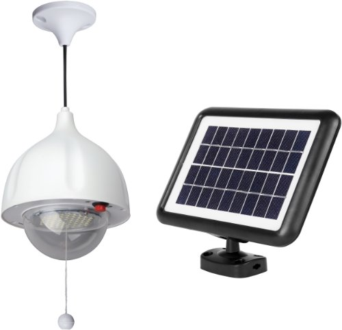 MicroSolar Super Bright - Lithium Battery - 60 LED Solar Shed Light - Power Adjustable (Chicken Coop Light compare prices)