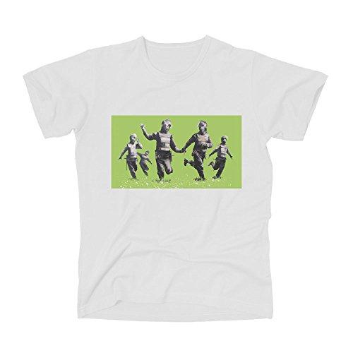 Banksy Dancing Riot Police Women's T-Shirt