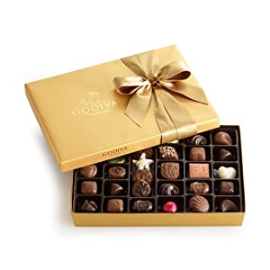GODIVA Chocolatier Gold Ballotin Classic Gold Ribbon 36 Pieces