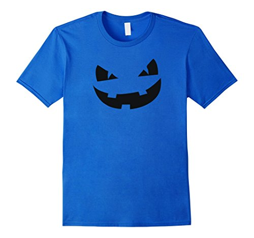 [Men's Scary Angry Mean Pumpkin Face Halloween Costume T-Shirt Tee Small Royal Blue] (Mens Halloween Costume Ideas Last Minutes)