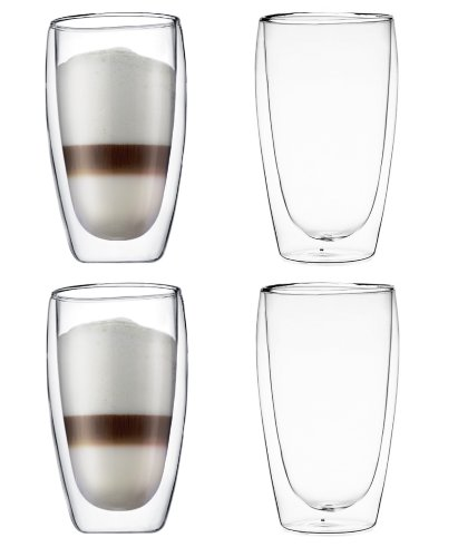 Bodum Pavina Double-Wall Insulated 15-Ounce Glasses - (Set Of 4)