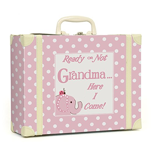 Child to Cherish Polka Dot Going to Grandma's Keepsake, Pink - 1